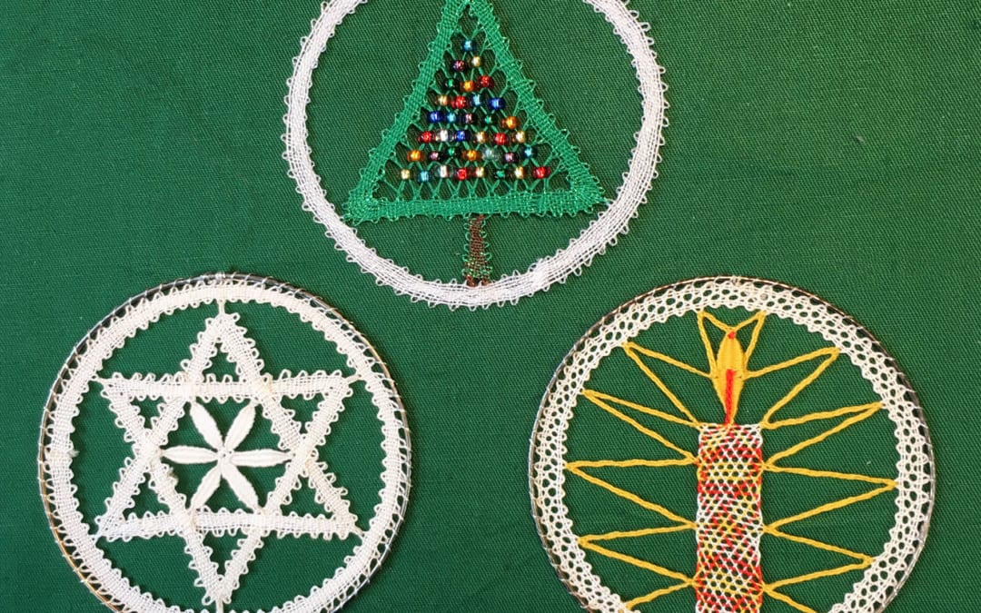 Lace Making for Christmas – tutor Jean Leader's festive ideas