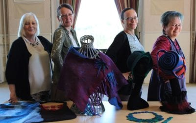 Felted Accessories – beautiful pieces from a fun course with Ewa