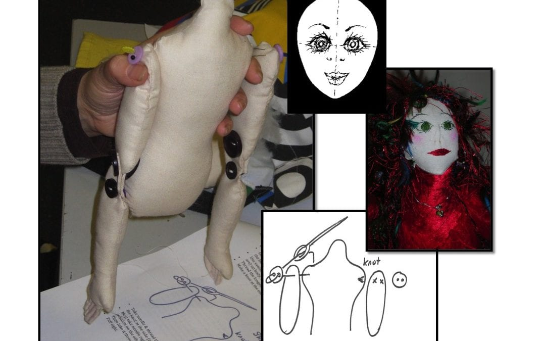 Art Cloth Doll Making Courses at Gartmore House – hello from Tutor Angela