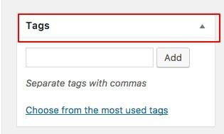 tags in wordpress