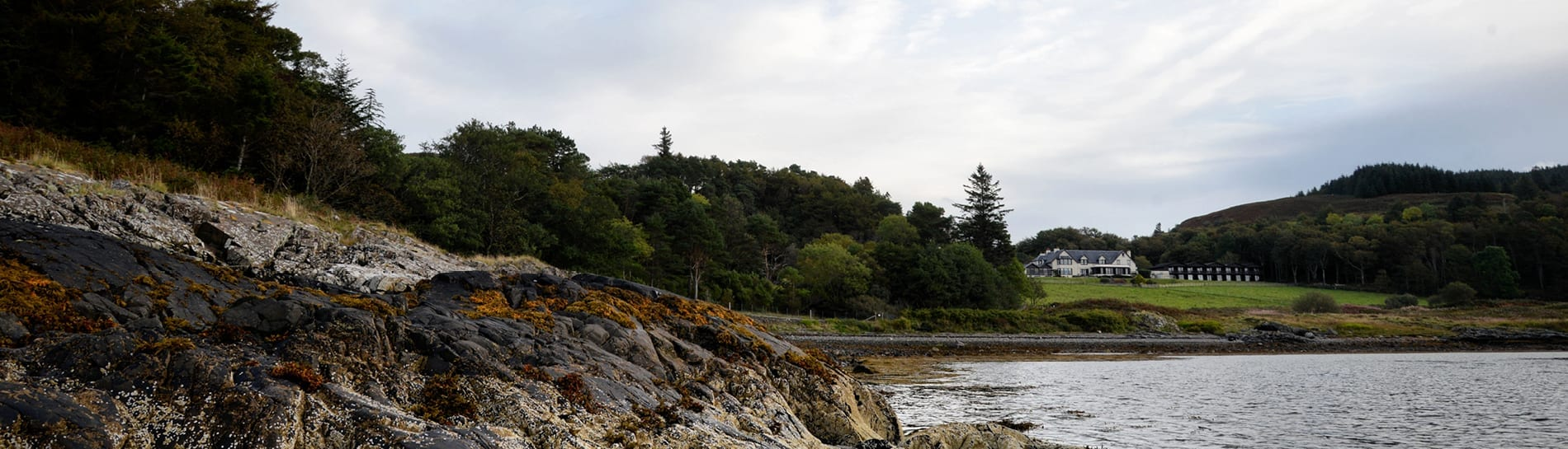 View from Beach at Loch Melfort Hotel