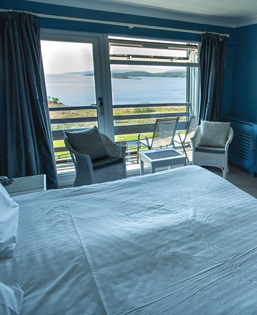View from Lodge Bedroom at Loch Melfort Hotel
