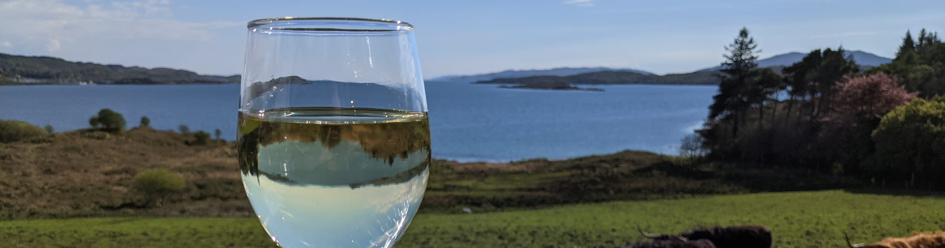 Wine with a view at Loch Melfort Hotel